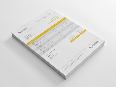 Invoice Design stationary design invoice template invoice design invoice vector design typography web element stationary print template