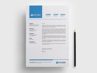 Letterhead Pad stationary design letterheads letterhead letterhead template letterhead design vector illustration design print template stationary