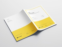 Project Proposal proposal design project proposal branding design vector print templates minimal design graphic design yellow design branding and identity stationary design idml indd indesign template profile company profile profile design