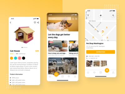 Pet Shop - Booking App UI Kit