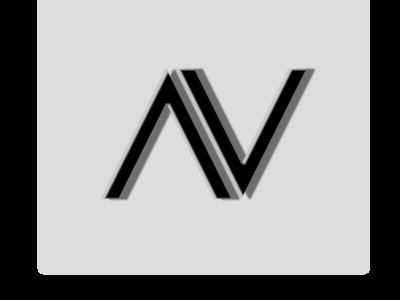A V Rebranding av identity minimal flat clean design vector