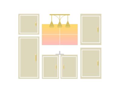 Kitchen Design vectr ace illustration minimal flat clean design vector