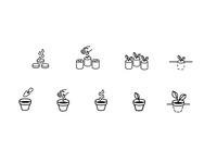 Seeding icon set