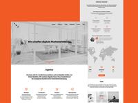 Landing page concept for Visumate digital agency