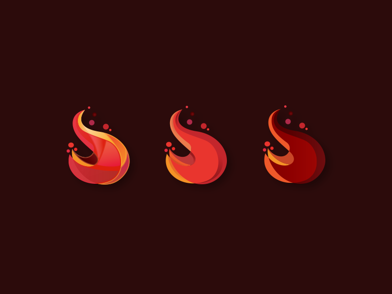 Flames WIP flame flames fire fires red logo icon mark branding app design clean