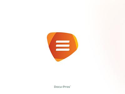 D + Document, logo design lines branding design logo office attorney note text file document