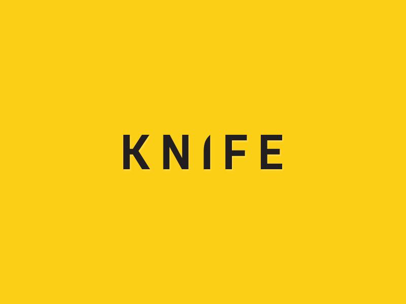 Knife logo best minimal logical sharp knive word illustrator vector knife logotype logo design logo