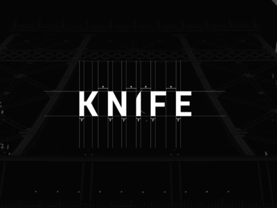 Knife logo typography letters logotype construction process concept grid mark vector logo design logo knife