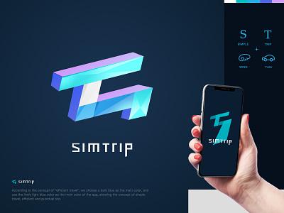 Simtrip App Logo loading logo app design