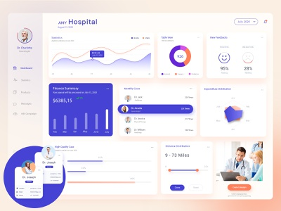 Medical management system UI uiux adminstrat medical online hospital dashboad concept admin design app ae ux ui