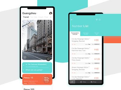 Trip App app design ui
