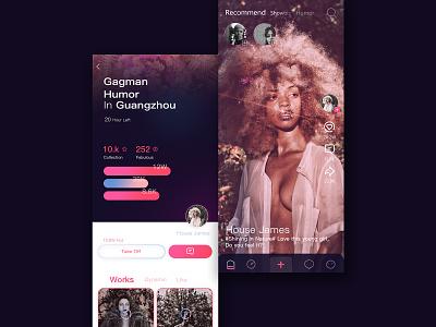 Pink Fish Video App video ui app