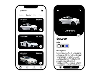 Car Dealership Mobile App UI