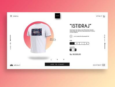 "E-commerse Muslim Wear ""Istidraj T-Shirt"""
