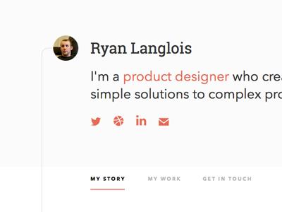 Portfolio sneak peek portfolio typography web design simple clean