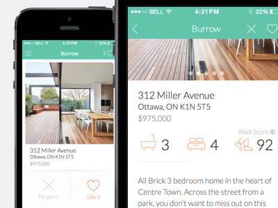 Real estate app app real estate iphone ios icon design tinder