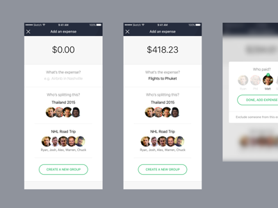 Add an expense iphone app swift expenses mobile ui ux iphone ios