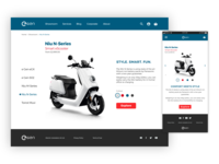 eGen Scooter Responsive Website