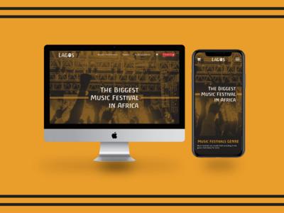 Lagos Tourism Mobile & Web Landing page