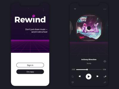 Rewind Music App Screenshots
