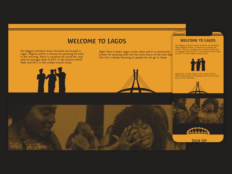 Welcome to Lagos Responsive Website responsive responsive website website nigeria african icons contrast lagos ui design clean branding mobile design mobile ui minimal mobile app design mobile app uiux design ui app