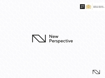 New Perspective clean vector symbol type simple featured minimal dark n typography logotype logo feature society modern monogram building brand design architecture