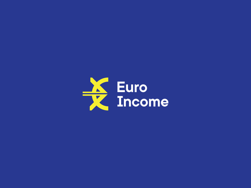 Euro Income typography minimal european banking bank europe eu development brand logo payment app paypal fast payment pay currency economic euro