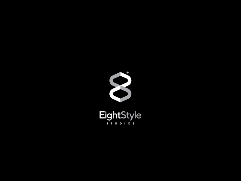 eight style symbol type logotype architecture design clean simple number monogram optical illusion minimal modern logo identity brand logo architecture modern interion