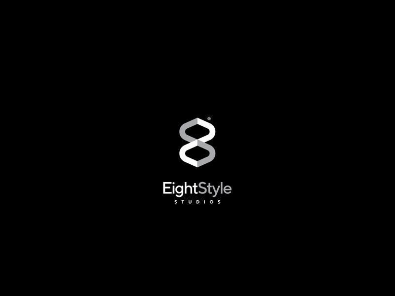 eight style symbol type logotype architecture design clean simple number monogram optical illusion minimal modern logo identity brand logo architecture modern interion