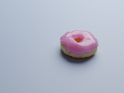 First donut render illustration sprinkle work 3d donut blender