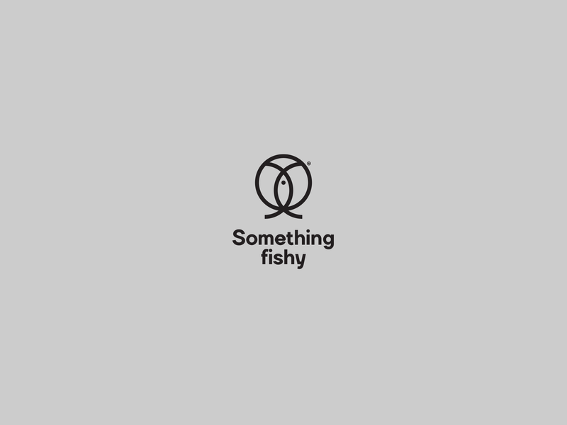 Something fishy design typography minimal lingerie logo design symbol logo vector type registered mark underwater shop sex fish female underwear