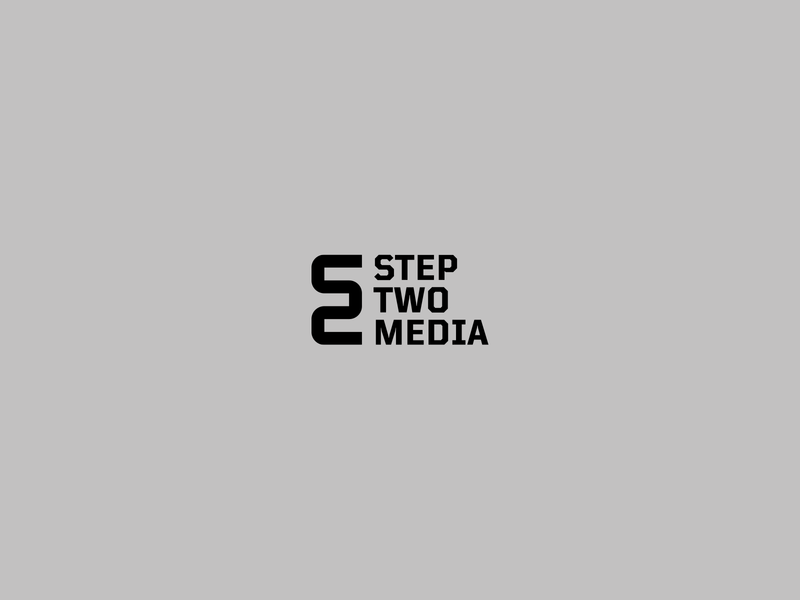 Step Two Media minimalist modern white black recording flow 2 two logo design media simple monogram minimal logo