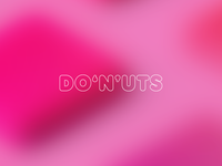 DO6N9UTS type simple design minimal colorful thick fat typography logotype logo diorama fluffy 69 packaging branding brand donuts