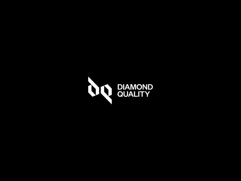 DQ Monogram monograms monogram design vector guide grotesque typography monogram logo flat grid logo diamond minimal d monogram