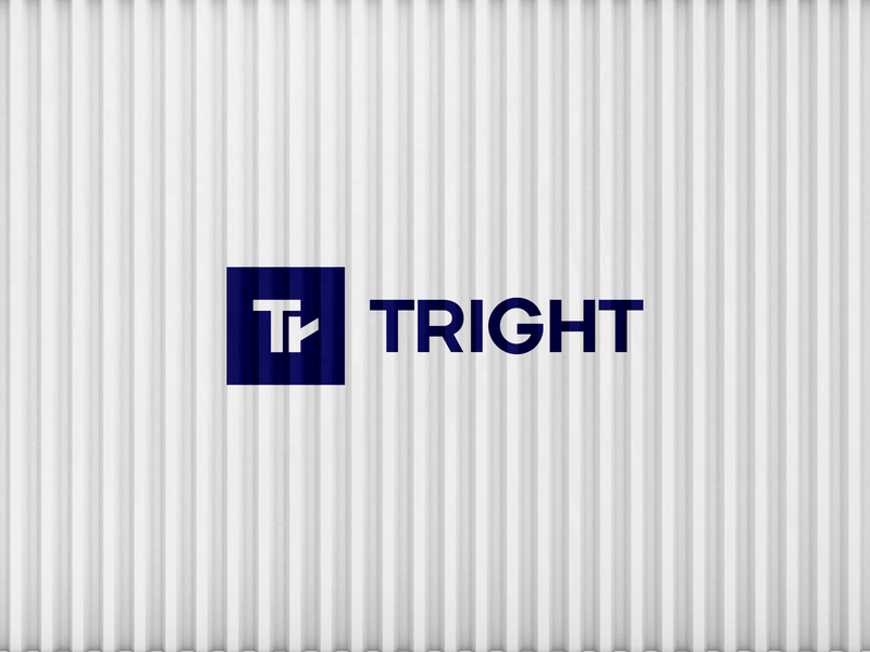 Tright illustration logotype design minimal trucks freight typography simple movement right arrow negative negative space monogram logo cargo truck