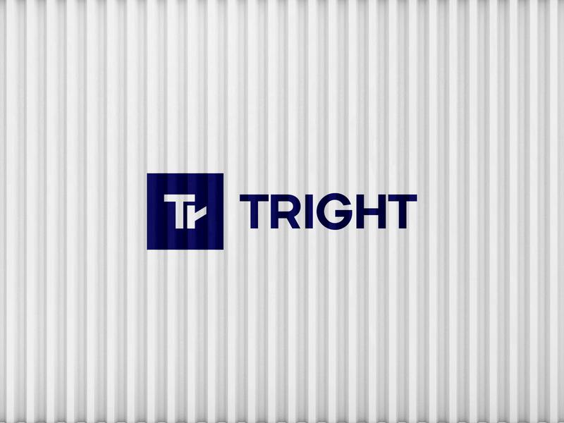 Tright illustration logotype design minimal trucks freight typography simple movement right arrow negative negative space monogram logo cargo truck