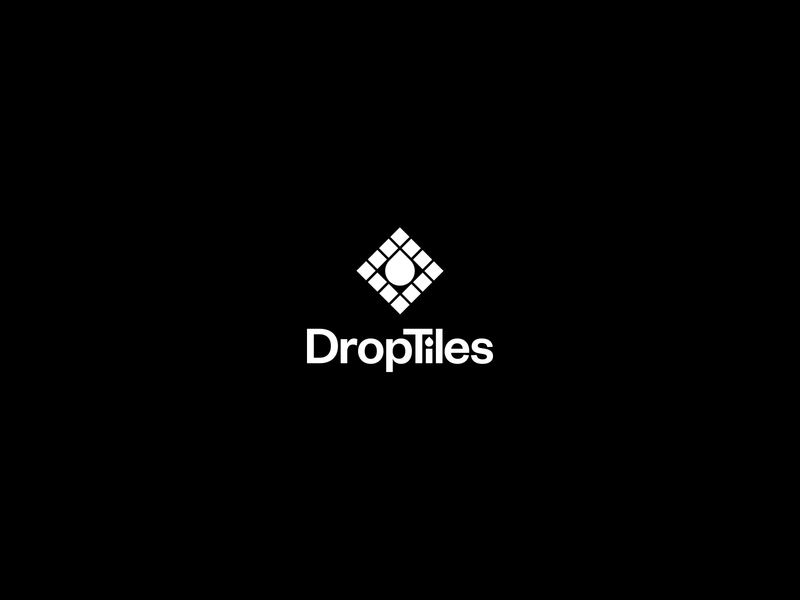 DropTiles grotesque typography minimal tileset logo pattern bold symbol monogram tile tiles drop