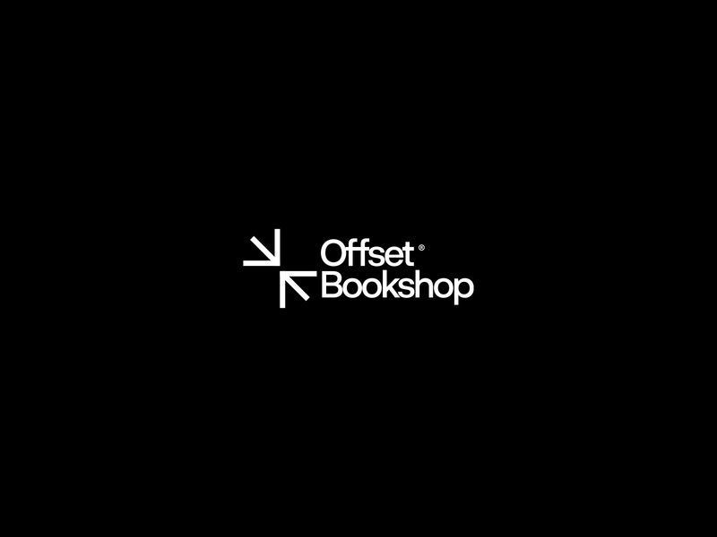 Offset Bookshop concept vector clean symbol type logotype simple design typography minimal logo