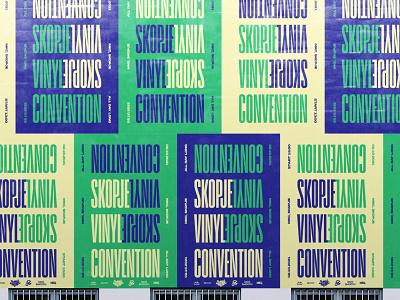 Skopje Vinyl Convention illustration type logotype simple design minimal flip poster vinyl key visual typography identity visual branding