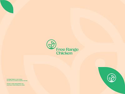 Free Range Chicken logo design plant chicken nature branding illustration type logotype simple design typography minimal logo