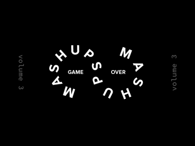 Mashups volume 3 cover over game typography mashup love color type music