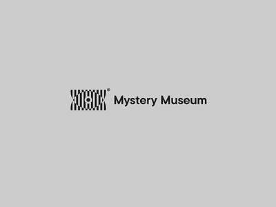 Mystery Museum optician illusion optical helvetica retro minimal clean logo eye optic