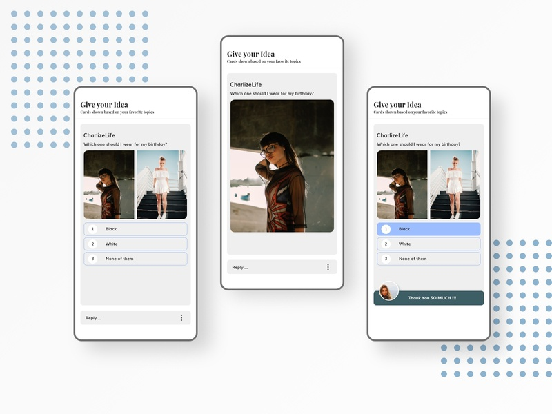 Share your thoughts ios iphone mobile design system socialmedia application design ui ux