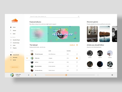 SoundCloud redesign ux soundcloud music design web ui redesign