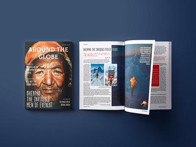 Travel magazine template.