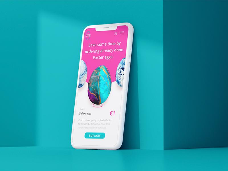 Easter App Design Concept clean design ux ui team ios icon typography food easter ecommerce design app responsive mobile mockup