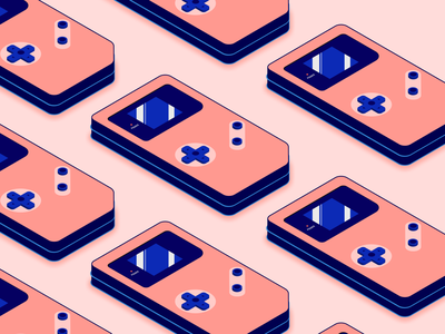 Retro Gameboy flat minimal vector illustration