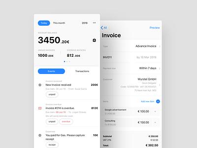 Financial App wallet fin tech finance iphone mobile app ui ux design