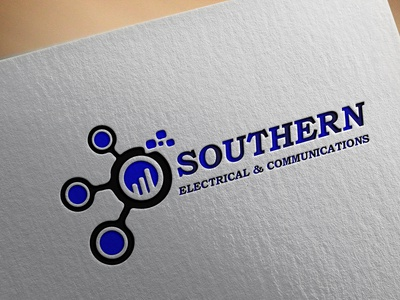 electrical and communications Logo logo design  logo illustration illustration design logo
