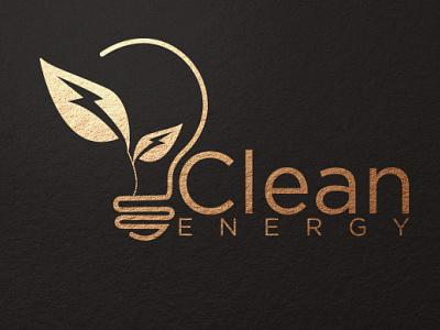 Clean ENERGY illustration design logo